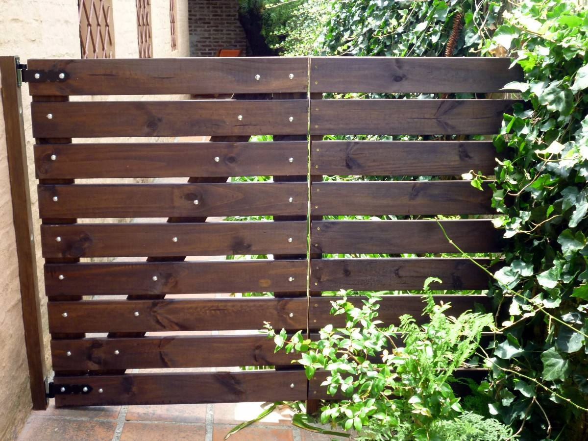 Port n para jard n en madera tratada garantida for Jardines de madera