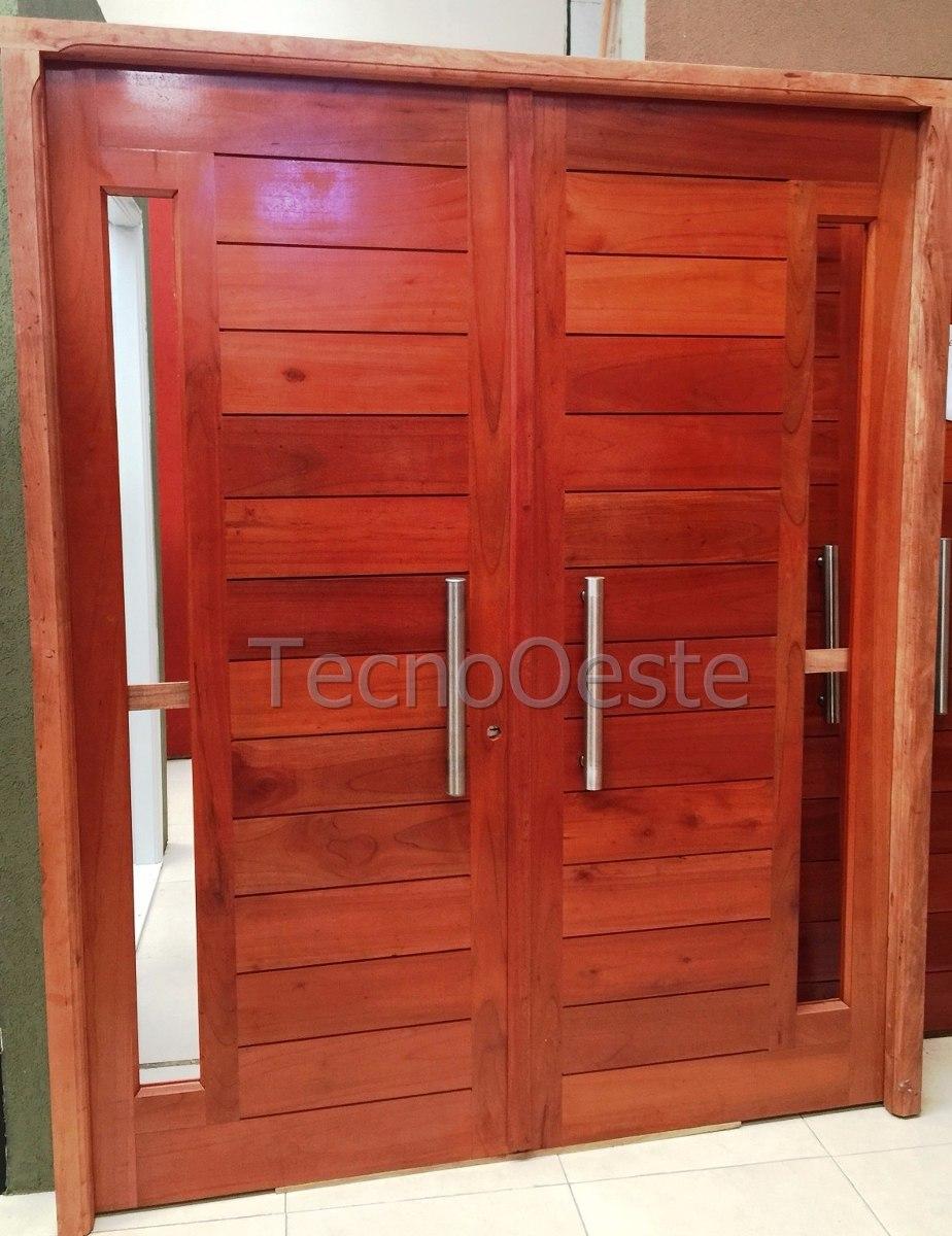 Portón Puerta Madera Cedro Maciza Exterior Portada 160 Cm - $ 21.990 ...