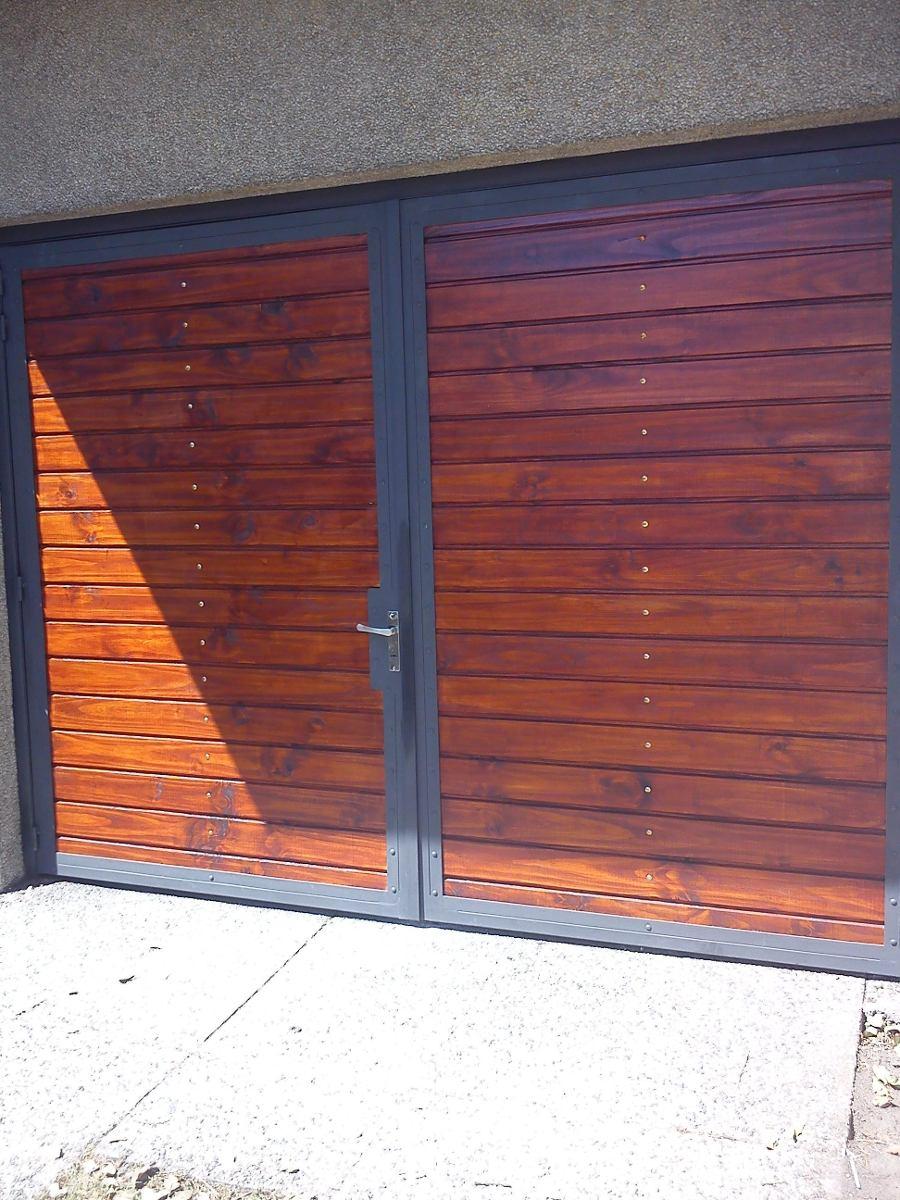 Portones corredizos en hierro y madera en mercado libre - Vender garaje ...