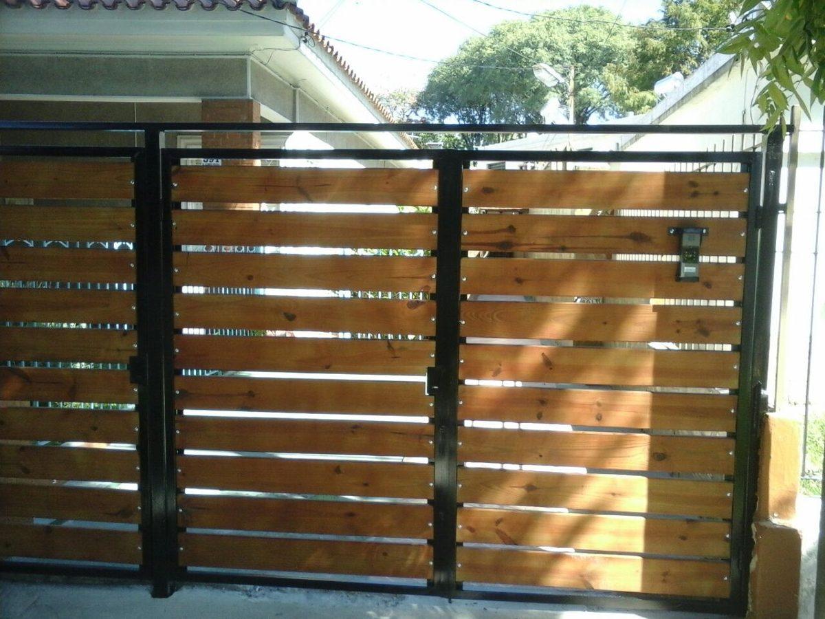 portones d hierro y madera oferta hierro total