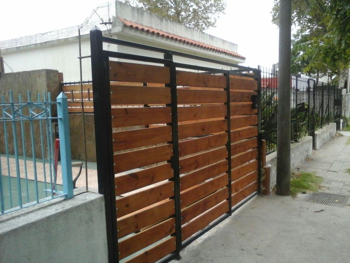 Portones d hierro y madera oferta hierro total - Garage de madera ...