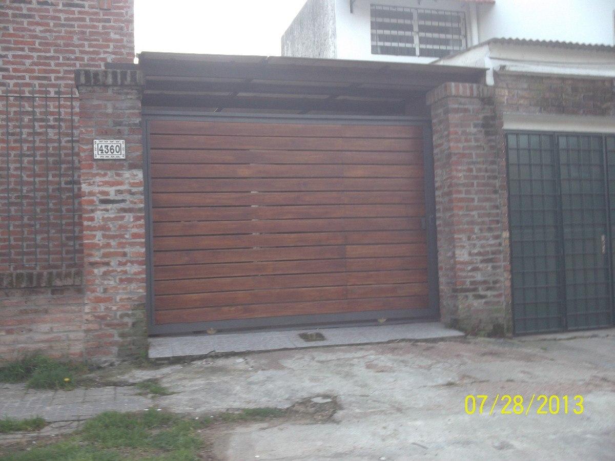 Portones de garage en mercado libre for Puertas de madera para garage