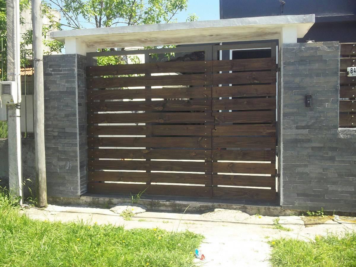 Portones de hierro corredizos casa garaje empresa reja rueda en mercado libre - Portones para garaje ...