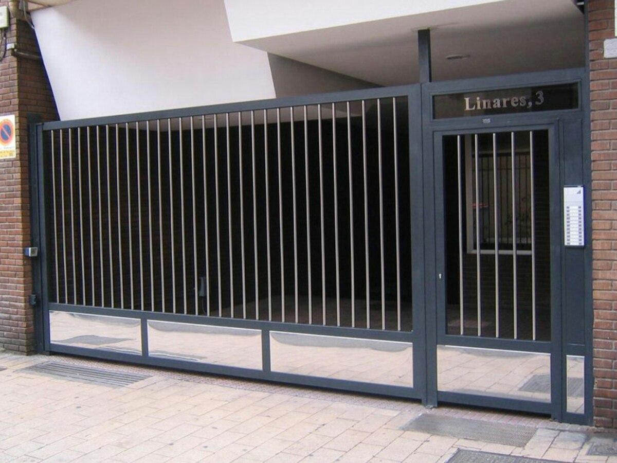 Portones de hierro corredizos casa garaje empresa reja for Modelos de portones de hierro fotos
