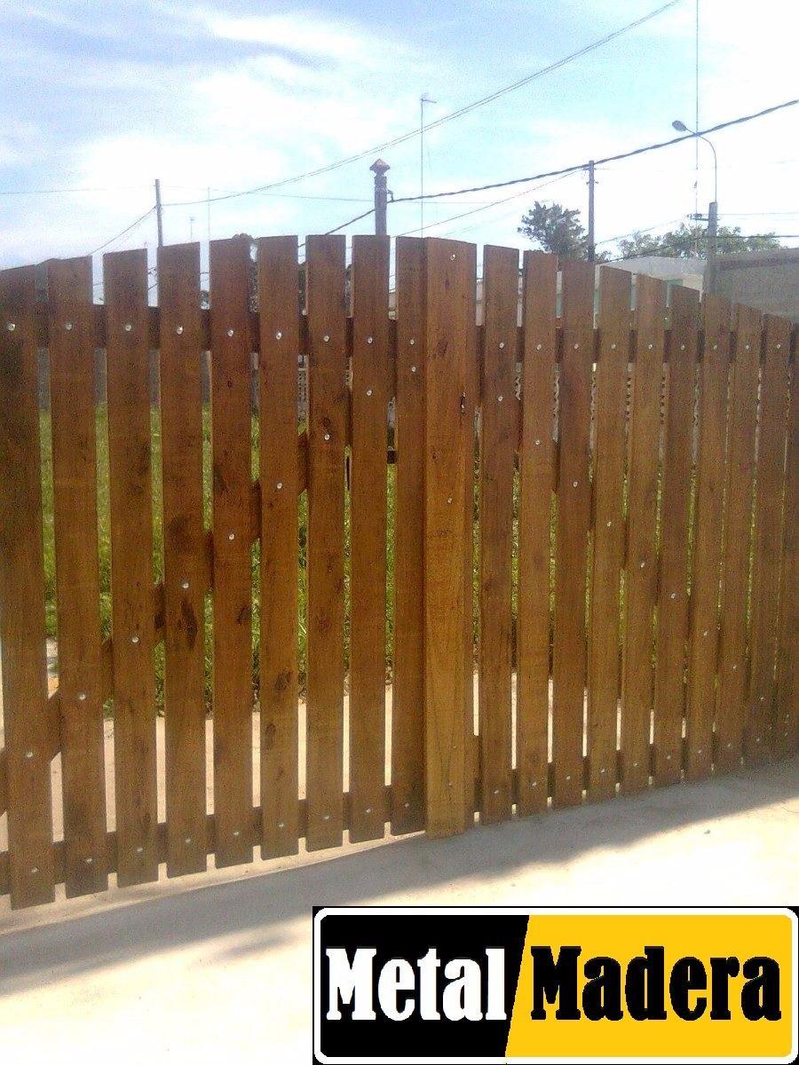 Portones de maderas 550 00 en mercado libre for Puertas y portones de madera