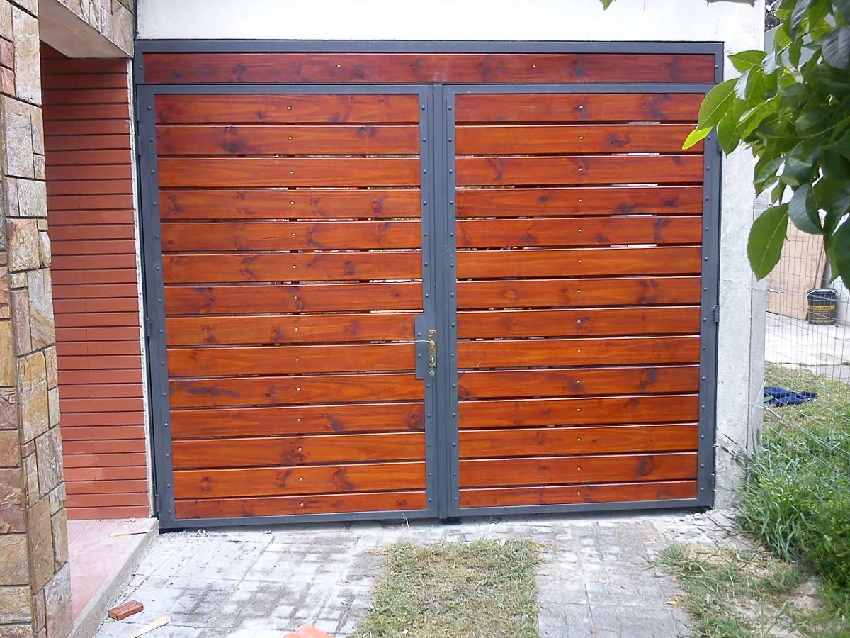 Imagenes de portones de hierro affordable portones en for Puertas y portones de madera