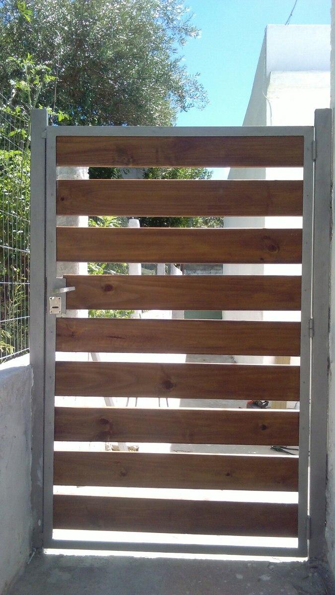 Portones en hierro y madera en mercado libre - Hacer puerta madera ...