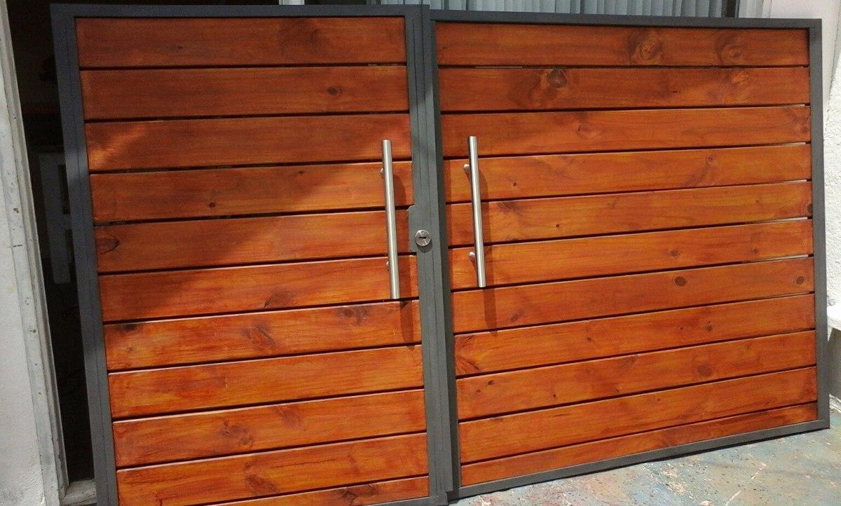 Portones en hierro y madera o como los prefiera - Portones de madera para exterior ...