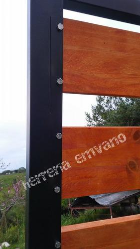 portones en hierro y madera! todas las medidas