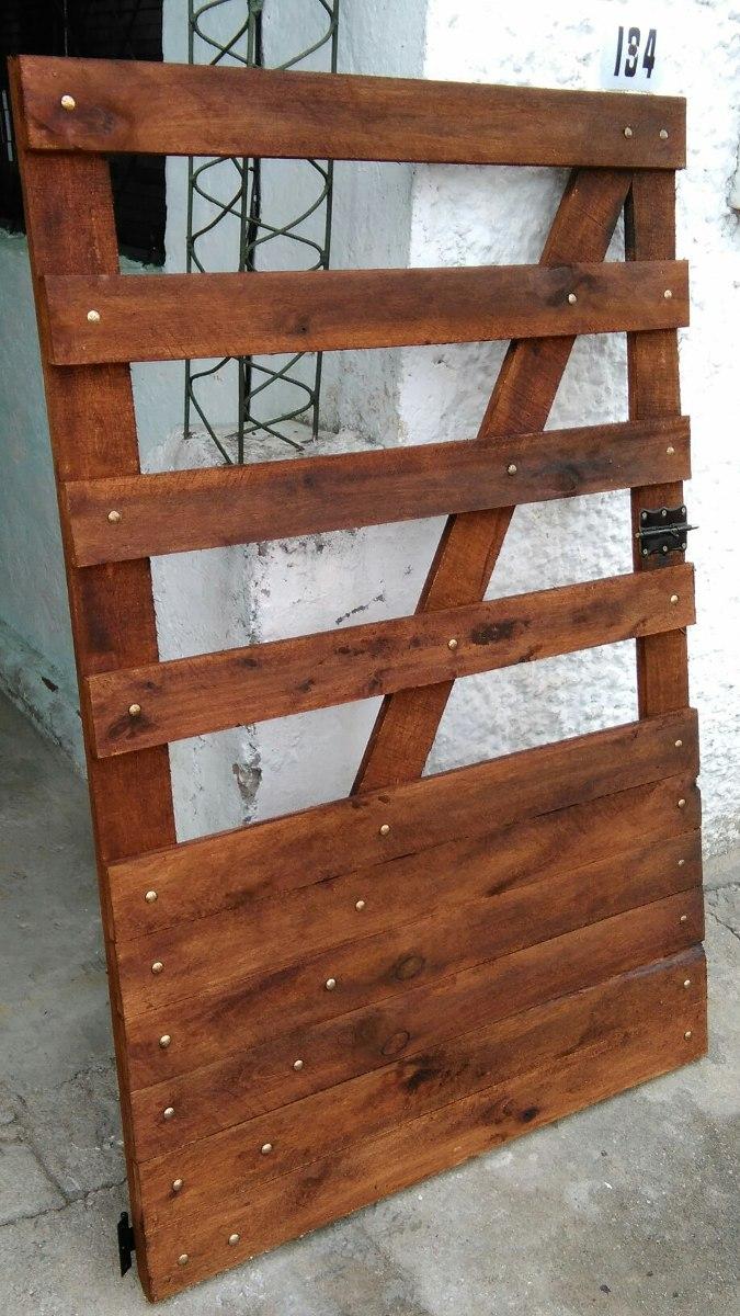 Portones en madera en mercado libre for Portones madera rusticos