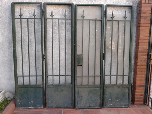 portones hierro madera macizo 2,40 x 2,15demolicion antigua