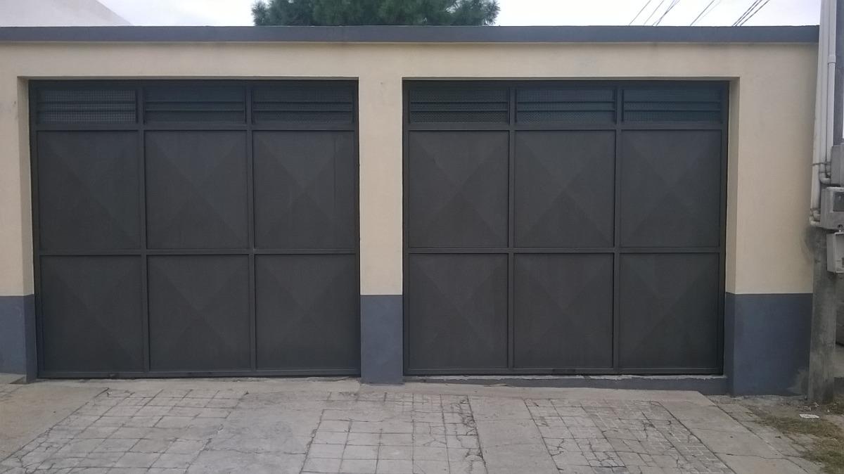 Portones rejas puertas herreria aluminio mamparas y for Costo del garage 24x36