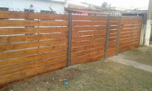 portones y cerramientos corredizos de hierro y madera $1500