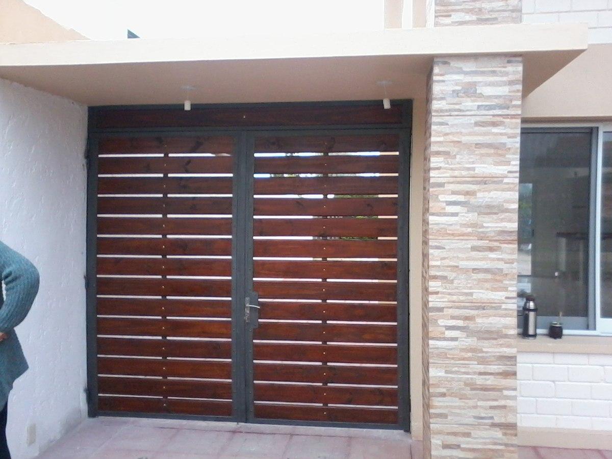 Portones y cerramientos en hierro y madera en - Puertas para cerramientos ...