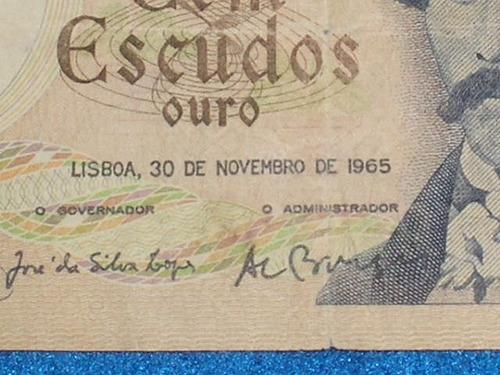portugal billete de 100 escudos 1965  muy bueno
