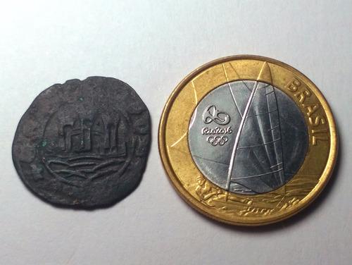 portugal rara moeda 1 ceitil de d. joão i i 1481-1495 #0249