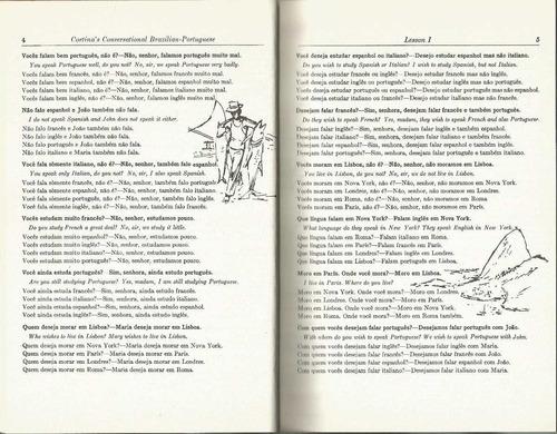 portugués brasileño. libro de conversación. cortina.