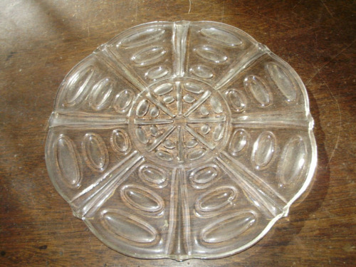 posa fuente circular en vidrio 17 cmts diametro