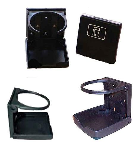 posa porta vaso lata negro en pvc retráctil y portátil