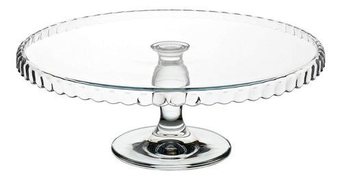 posa torta masas con pie vidrio transparente pasabahce