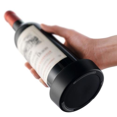 posabotellas de vino - bottle coaster vacu vin (negro-pvc)