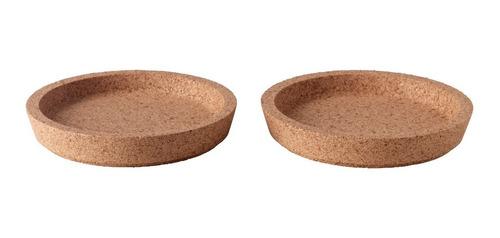 posavasos de corcho por par cafe vajilla