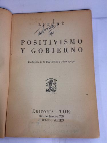 positivismo y gobierno, littré