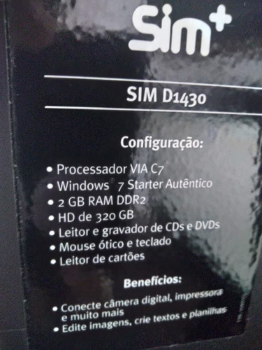 positivo 320gb computador