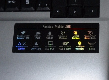positivo z68-z61-tela14.1,carcaça-teclado-celeron560-web-dvd