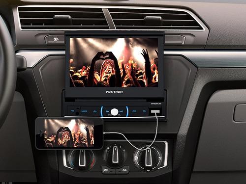 positron stereo auto pst sp6520 bluetooth usb tv mp3