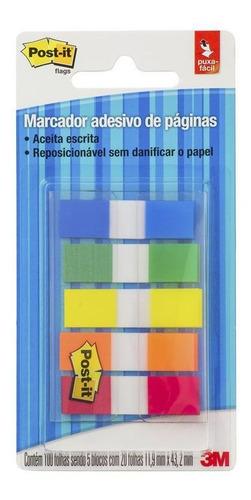 post-it 3m marcador de página adesivo 5 flags 11,9 x 43,2 mm