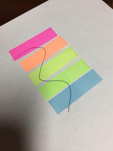 post-it 4 peças adesivo colorido - 100 folhas coloridas
