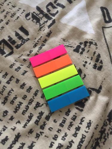 post it adesivo colorido - 100 folhas coloridas