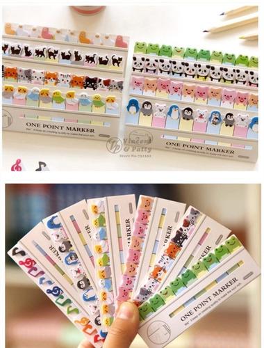 post it adesivo papel colorido - 150 folhas gato marcador