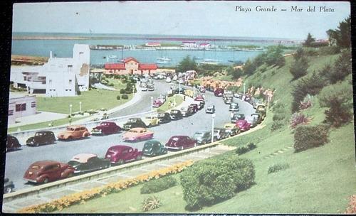 postal 1952 antigua argentina mar del plata playa grande