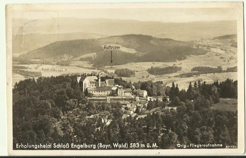 postal - alemanha erholungsheim com selo decada de 1940