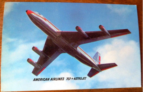 postal american airlines boing 707 astrojet