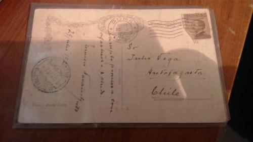 postal años 1911 de un puente destruido en roma.