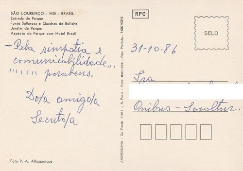 postal antigo são lourenço - mg - z2