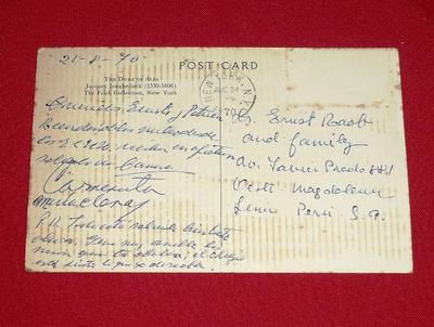 postal antigua el duque de alba nueva york 1970 blanco negro