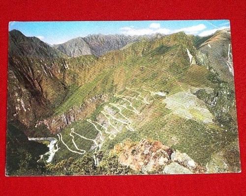 postal antigua machu picchu carretera vilcanota swiss f 1965