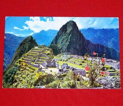 postal antigua machu picchu ciudadela huayna picchu corbacho