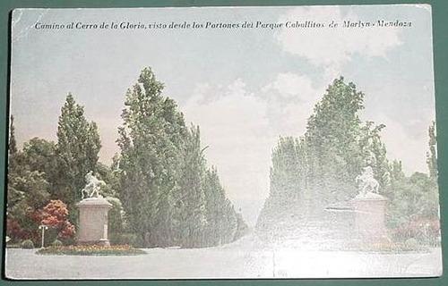 postal antigua mendoza camino cerro gloria caballitos marlyn