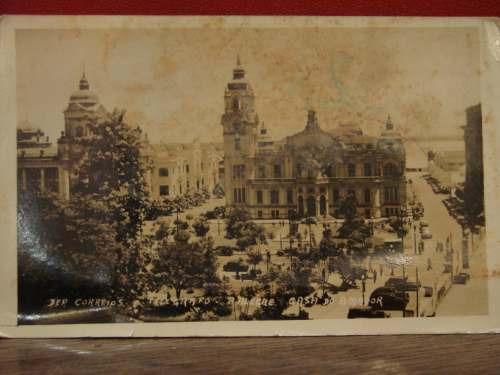 postal antigua vista parcial de puerto alegre brasil