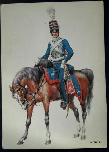 postal antiguo soldado uniforme militar aleman