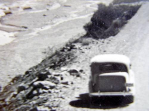 postal argentina  camino chile -mendoza 1940-50
