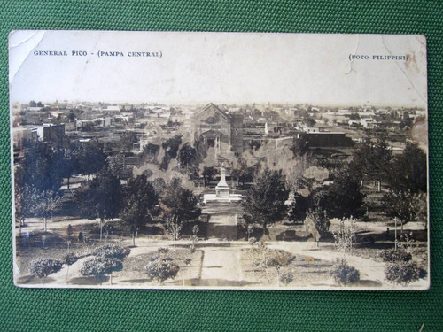 postal argentina general pico pampa año 1938