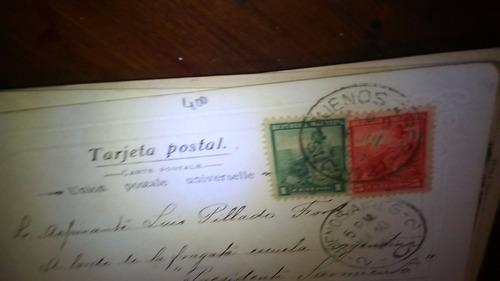 postal avenida de mayo  1903,entregada en la fragata