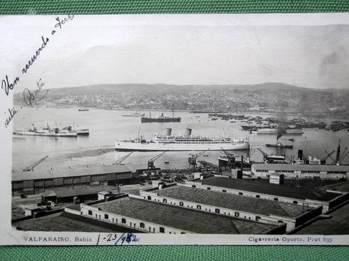 postal bahia valparaiso año 1930