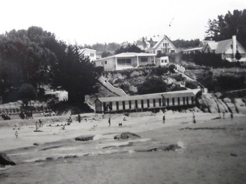 postal  balneario playa el durazno quintero 1945
